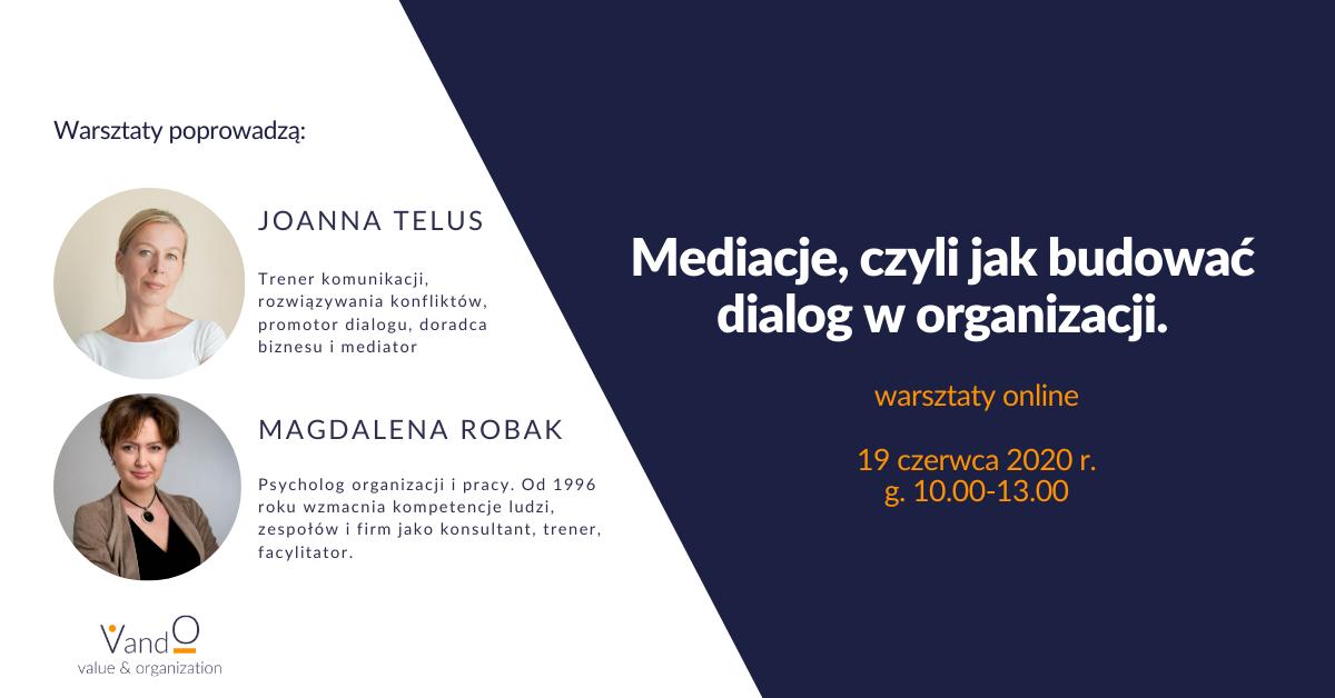 Warsztaty online - Mediacje, czyli jak budować dialog w organizacji - VandO