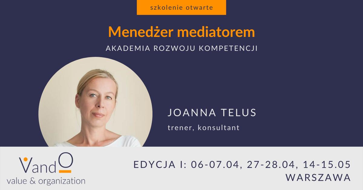 Menedżer mediatorem - akademia rozwoju kompetencji VandO