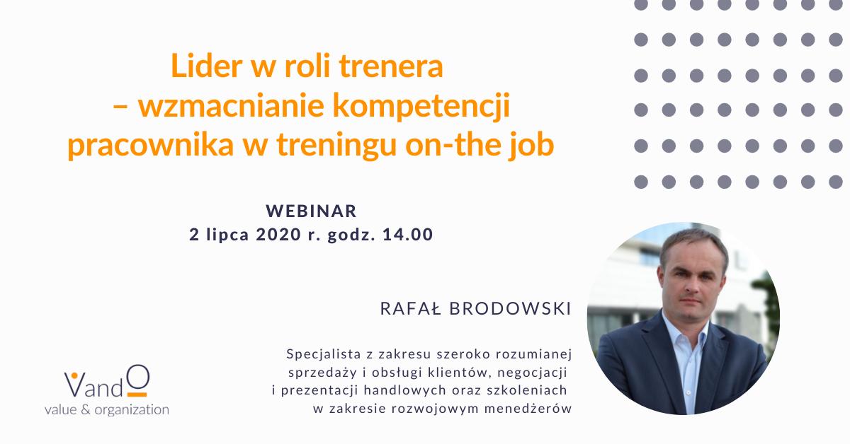 Webinar: Lider w roli trenera - wzmacnianie kompetencji pracownika w treningu on-the job