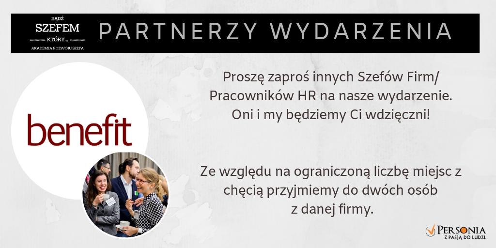 Partnerzy wydarzenia: Benefit