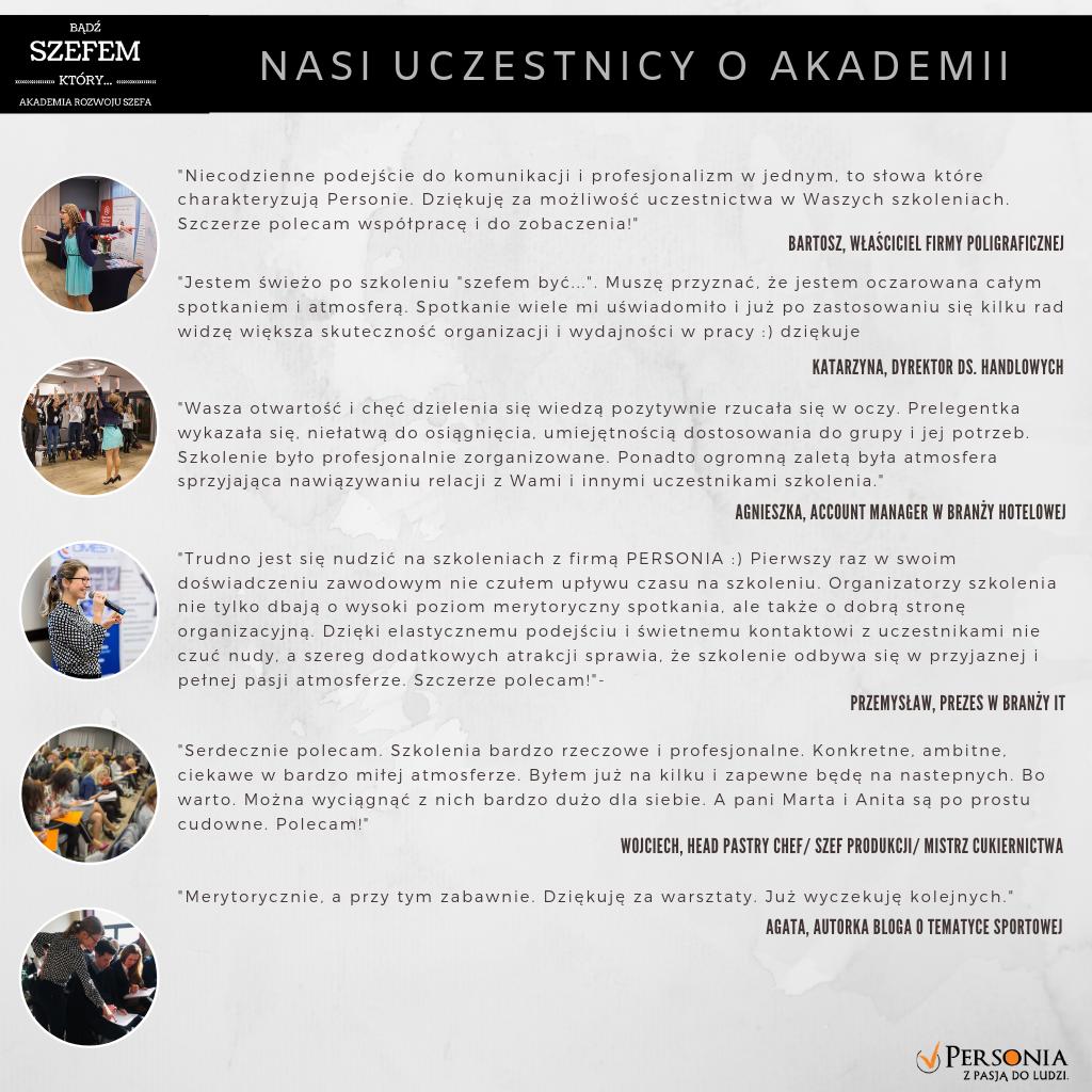 Opinie uczestników poprzednich edycji Akademii